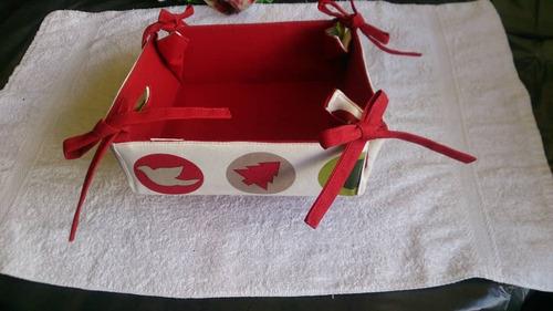 Juego De Panera De Navidad Con Mantel De Navidad