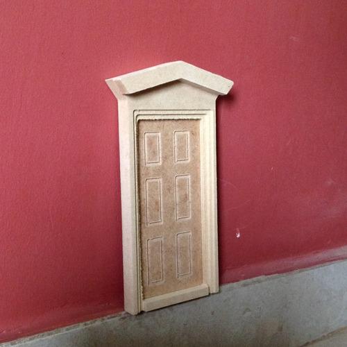 Juego De Tres (03) Puertas Raton Perez Decorativa Mdf Crudo