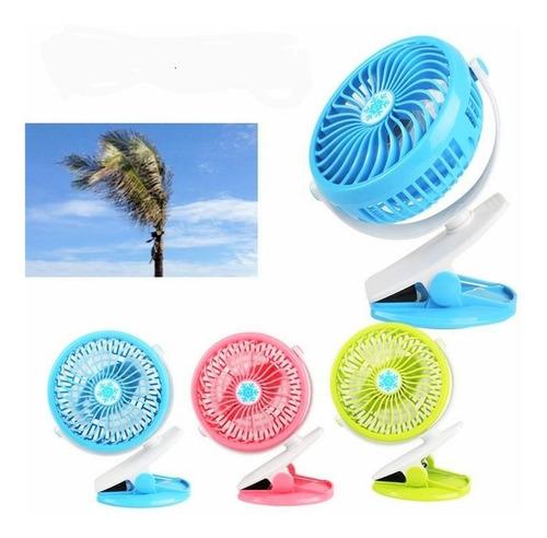 Mini Ventilador Portatil Recargable Usb Colores Aire Tienda