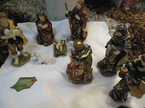 Nacimiento O Pesebre De Navidad Adorno Porcelana Española
