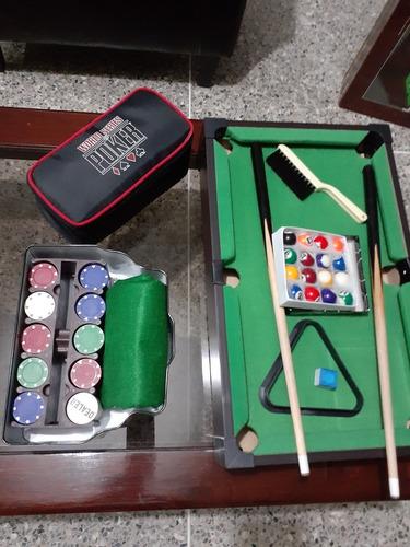 Se Vende Mini Mesa De Pool Con Juegos De Mesa