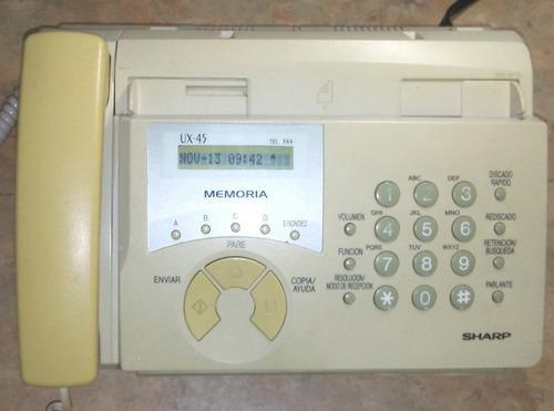 Teléfono Fax Sharp Ux-45 Usado En Buenas Condiciones.