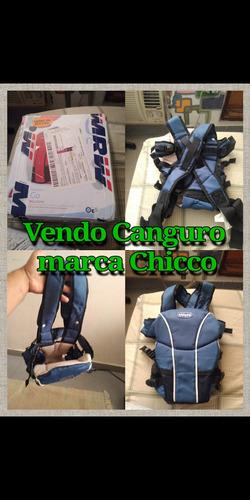 Vendo Canguro Marca Chicco Como Nuevo (azul Con Negro) En20$