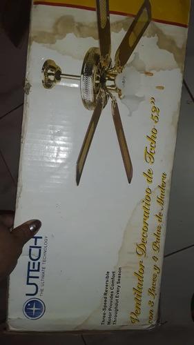 Ventilador De Techo Decorativo Con Lamparas