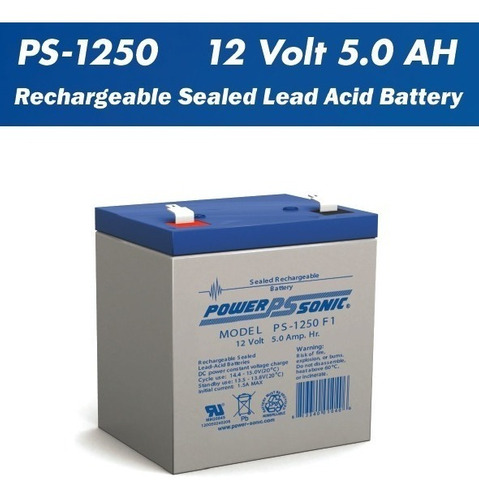 Bateria 12v 5ah Para Ups Cerco Electrico Marca Power Sonic