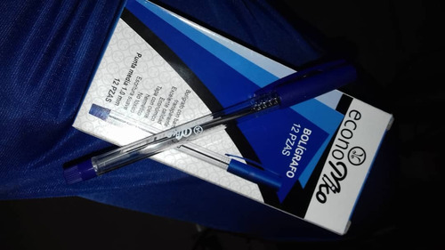 Boligrafo De Color Azul Marca Economiko Precio 2 Cajas