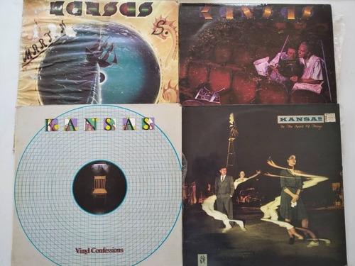 Colección De 4 Discos De Acetato De Kansas Rock
