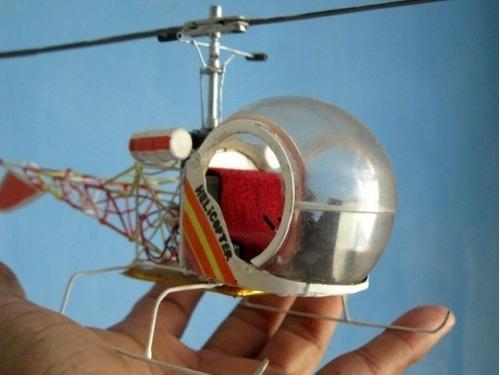Helicoptero Bell 47 De Coleccion Hecho A Mano 28cms