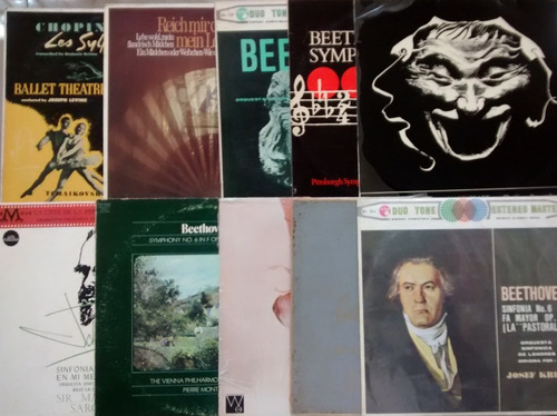 Lote Discos Lp Vinil Clasica Beethoven Chopin Tchaikovsky
