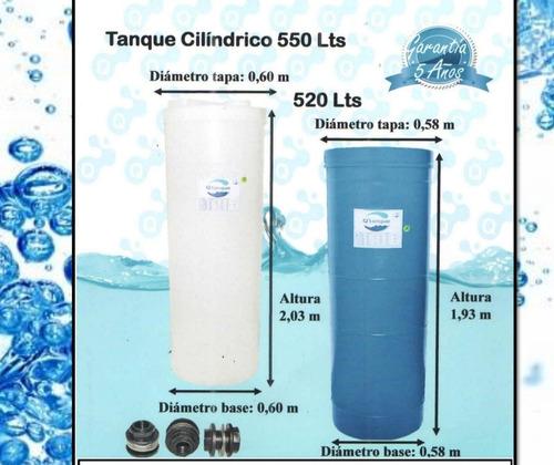 Tanque Cilindrico Para Agua De 520 Y 550 Lts Marca Q' Tanque
