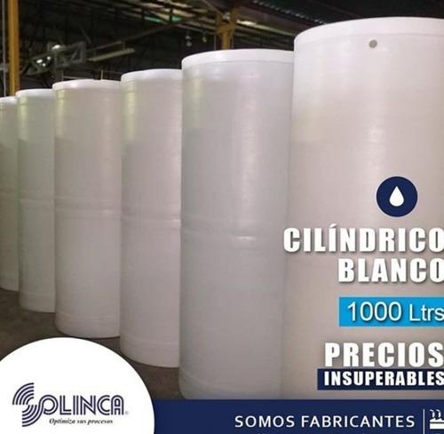 Tanques De Agua Cilíndrico Blanco  Litros Solinca