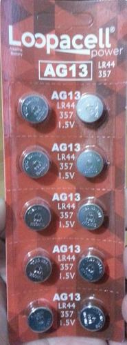 Blister 10 Pilas Alkalina Bateria Ag13 Lr44 Loopacell