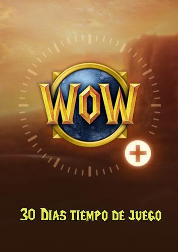 Ficha Para Tiempo De Juego World Of Warcraft