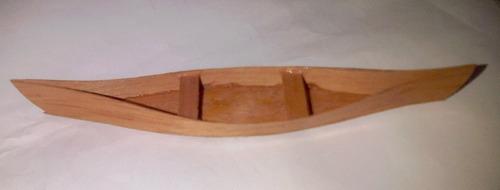 Canoa En Madera Para Maquetas Arquitectura.
