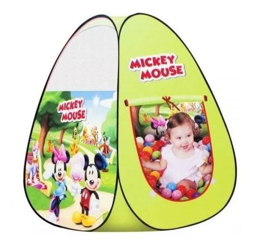 Casita Carpa Infantil Niños Mickey Mouse Pelotas