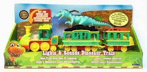 Dino Tren Pista Dinosaurio Sonido Y Luz Niños Juguete