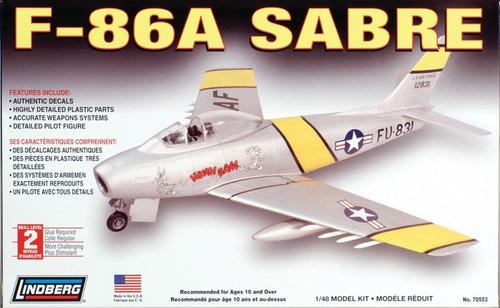 F-86a Sabre (kit Plástico), 1/48. Lindberg Usa.