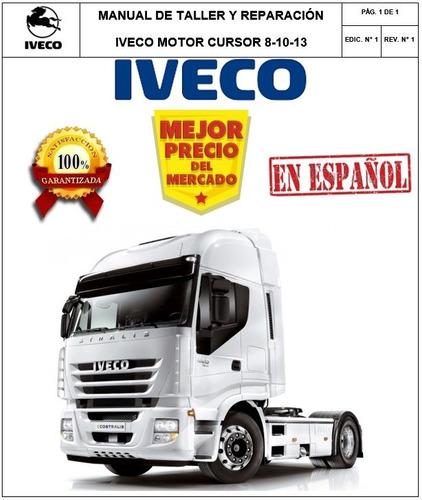 Manual De Mecánica Motor Iveco Cursor . Original