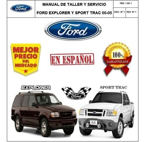 Manual Taller Ford Explorer Y Sport Trac  Español