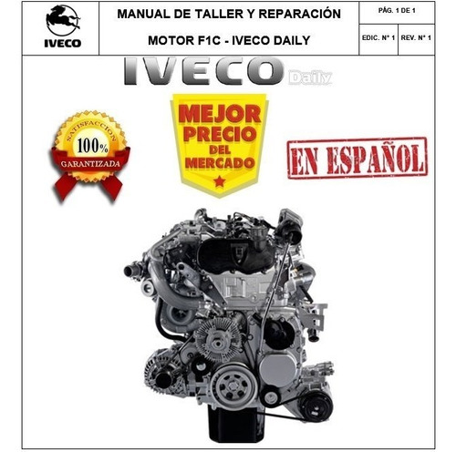 Manual Taller Motor F1c De Camioneta Iveco Daily Original