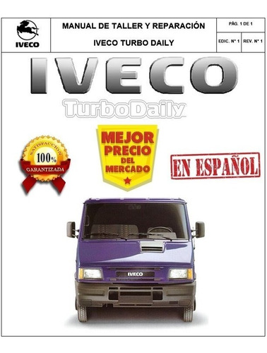Manual Taller Reparacion Iveco Turbo Daily Español Original