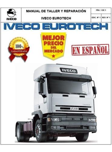 Manual Taller Servicio Reparacion Iveco Eurotech. Original