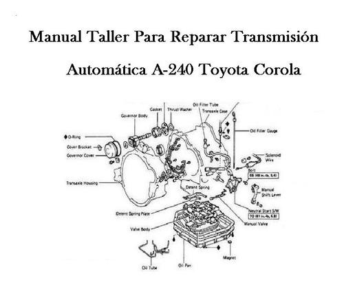 Manual Taller Transmision Caja Automática Corola Modelo
