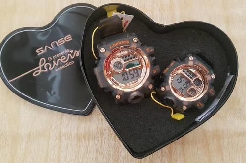 Relojes En Pareja Con Estuche De Corazon