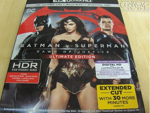 Batman V Superman 4k Ultimate Edition Ultra Hd + Bluray Dc
