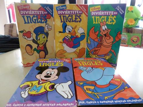 Curso De Inglés Infantil Disney Formato Vhs 5 Unidades