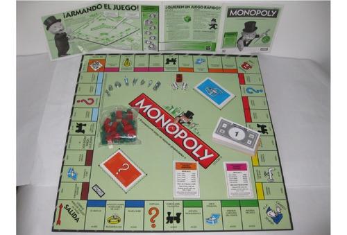 Juego De Mesa Monopolio Original De Hasbro 25 Y 30vrdoferta