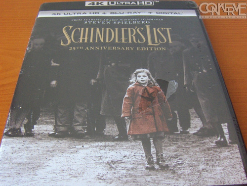 La Lista De Schindler 4k Bluray Combo Original Sellado New