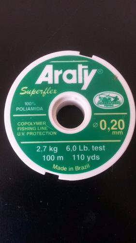 Nylon Araty Superflex 6 Y 9 Libras 100 Metros.