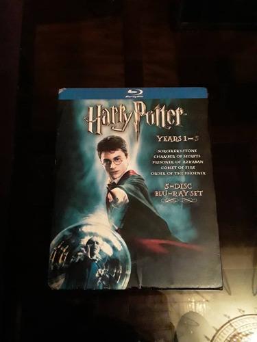 Pelicula Blu Ray Box Set De Harry Potter Años 1-5 -