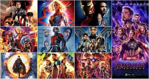 Peliculas Saga Marvel Y Dc Comics Full Hd Combo 10 Titulos