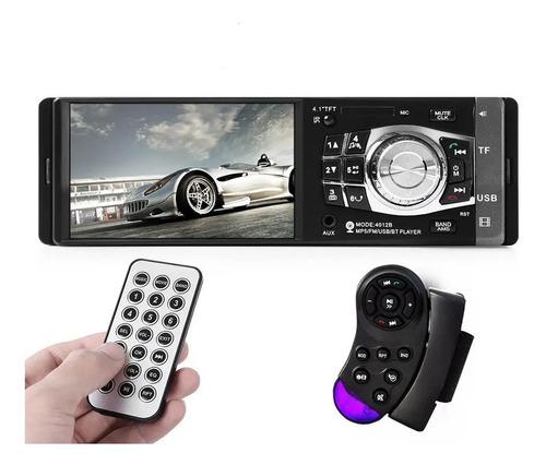 Reproductor Pantalla 4.1 Videos Mp3 Radio Mp5 Carros 1din Bt