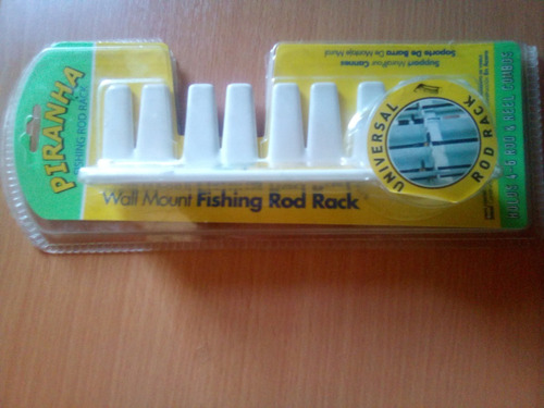 Soporte De Pared Para Cañas De Pescar (marca: Piranha)