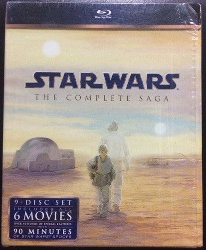 Star Wars: The Complete Saga. Blu Ray.original