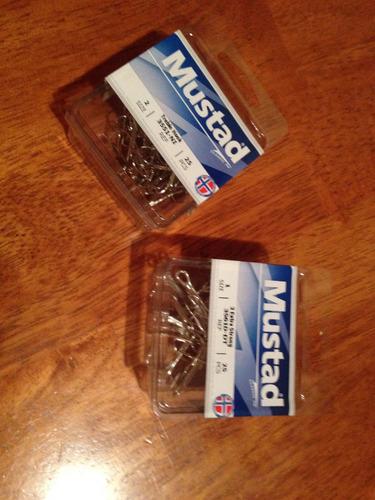 Tripochetas Mustad De Acero Made In Norway, Números: 1 Y 2
