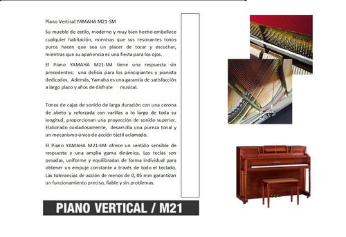 Vendo Piano Yamaha Vertical Modelo M21-sm