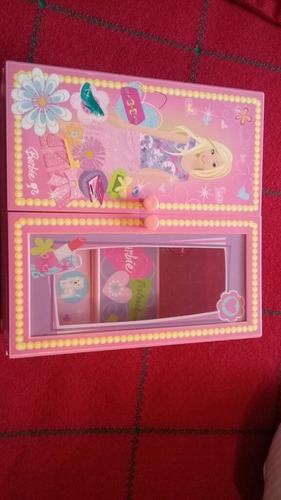 Joyero Cofre Para Niñas Barbie En Perfecto Estado!