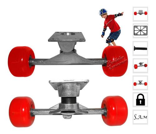 Par De Ruedas De Patineta Con Base De Aluminio Skateboard