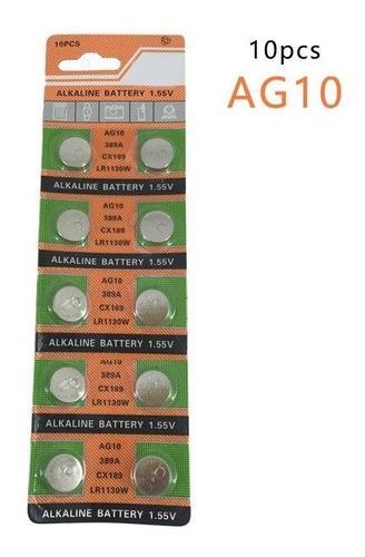 Pila Bateria Ag10 / Lr1130 Precio Por Blister De 10 Unidades