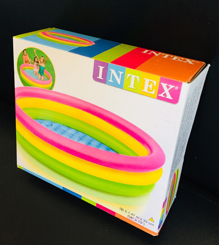 Piscina Infantil Inflable 3 Anillos Intex Niños )