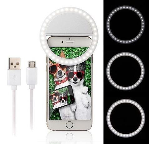 Aro De Luz Selfie Flash Camara Luces Led Portatil Celular