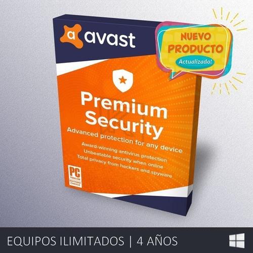Avast Premium Security - Ilimitado | 4 Años