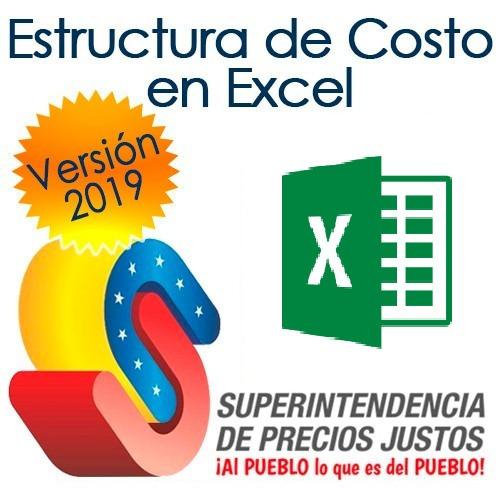 Estructura De Costo Sundde Plantilla Hoja Excel