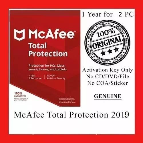 Mcafee Antivirus Total Protection Pc 1 Año/ Original