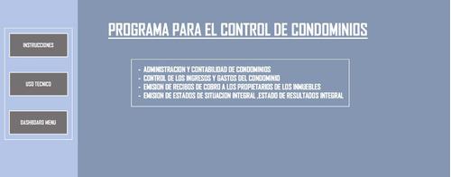 Programa Para El Control De Condominios Excel Premium