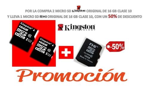 Promoción Memoria Micro Sd Kingston Original 16 Gb Clase 10
